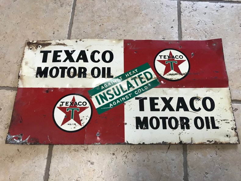 Original Texaco sign