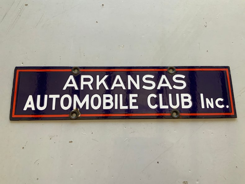 Porcelain Arkansas Automobile Club Sign