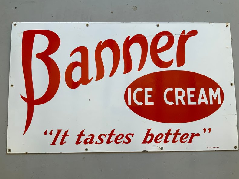 VERY RARE WEST TEXAS BANNER ICE CREAM