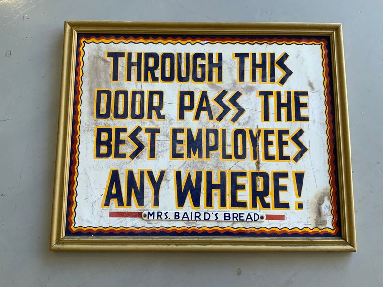 "Mrs. Baird's Wood ""World's Best Employee's"" Sign"