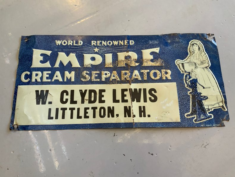 Empire Cream Separator Sign