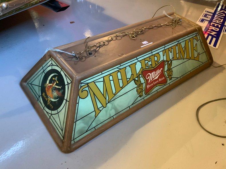 Miller Time Pool Table Light
