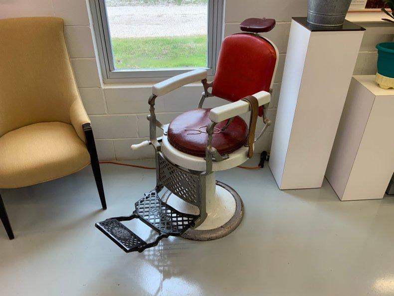 Antique Porcelain Barber Chair
