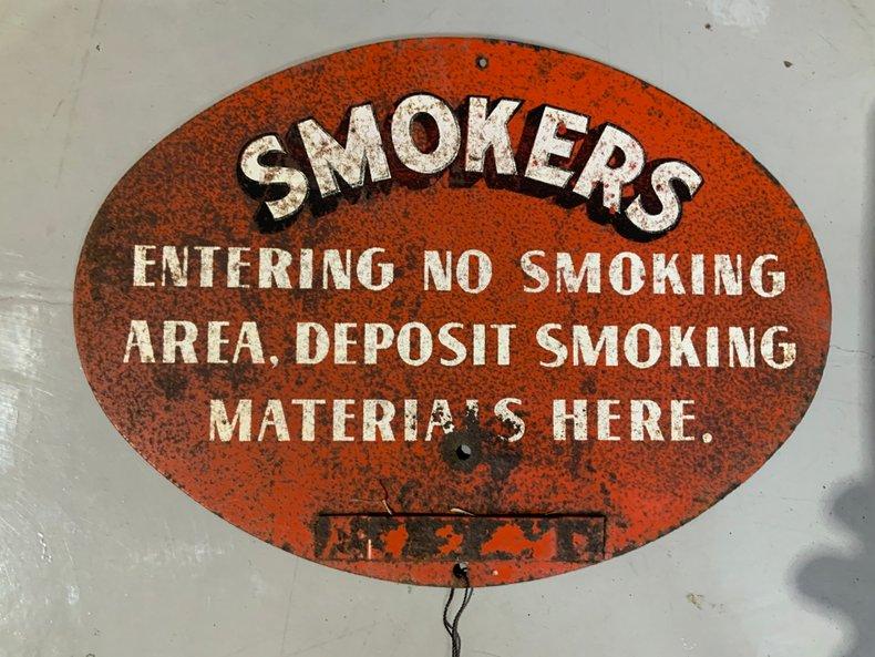 No Smoking Materials Sign