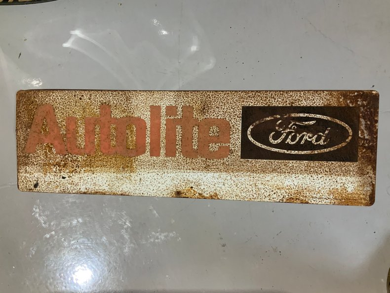 Original Ford Autoite parts sign lots of patina but cool