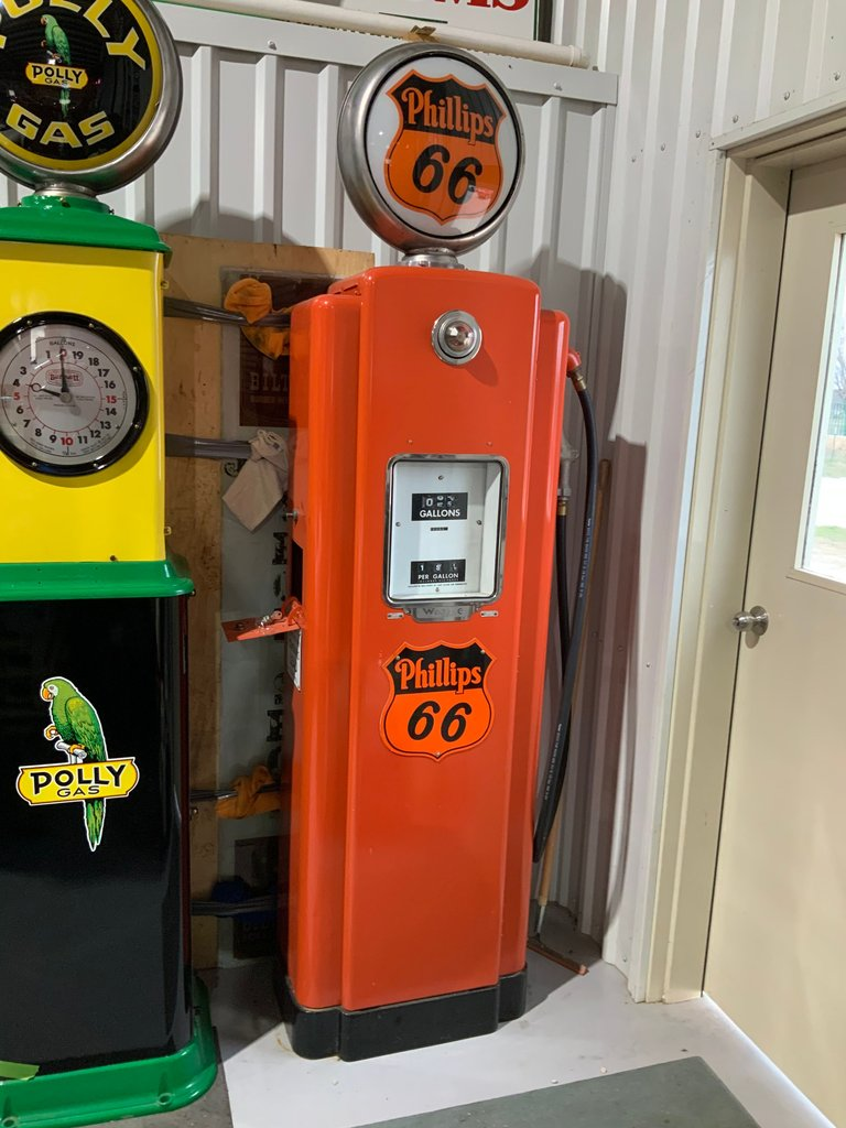 Restored Vintage Phillips 66 Gas Pump