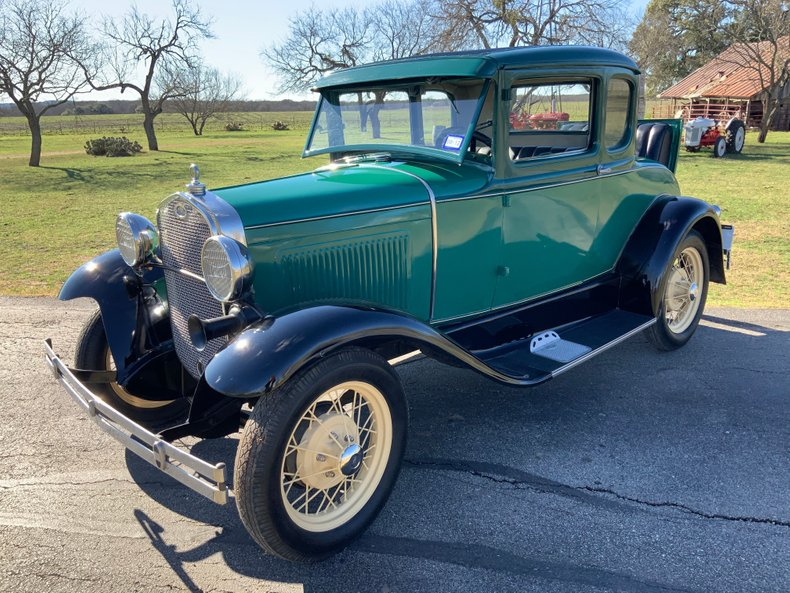 1931 Ford Model A 5 window coupe rumble seat