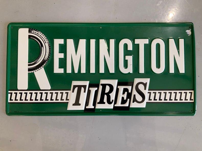 ORIGINAL REMINGTON TIRES SIGN