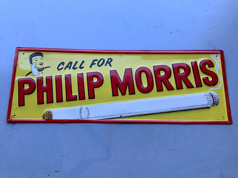 Call for Philip Morris Tin Sign