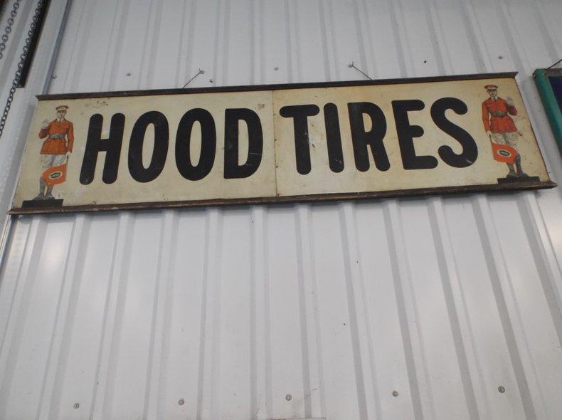 Original HOOD Tires sign
