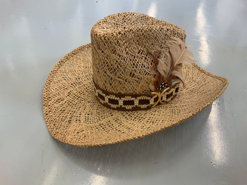 Woven straw Cowboy Hat Larry Mahan's Collection