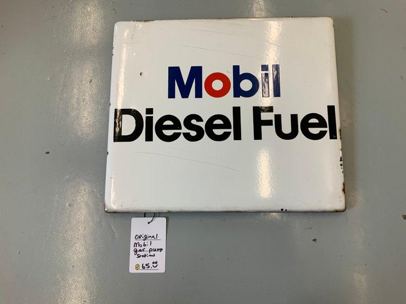 Original Porcelain Mobile gas pump sign