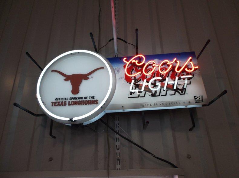 Texas Longhorns Coors Lighte Neon
