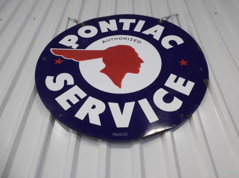 Two-sided Pontiac Service Sign