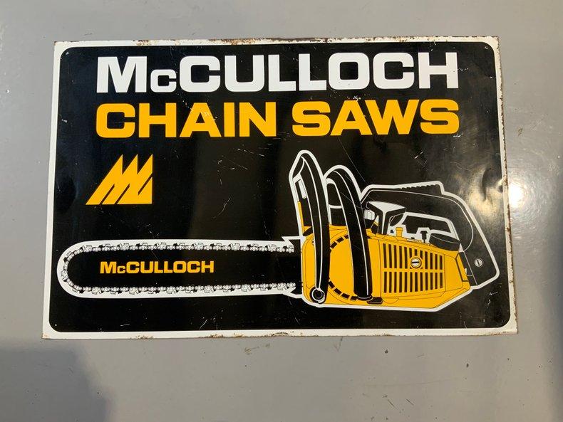 Original McCullough chainsaw sign