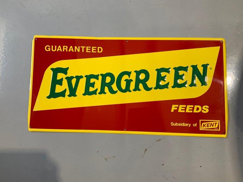 Original Evergreen feeds sign