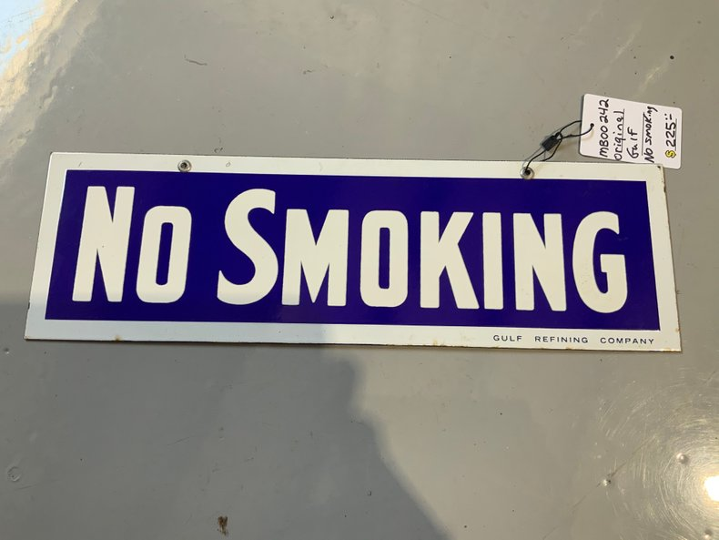 Gulf Porcelain No Smoking sign