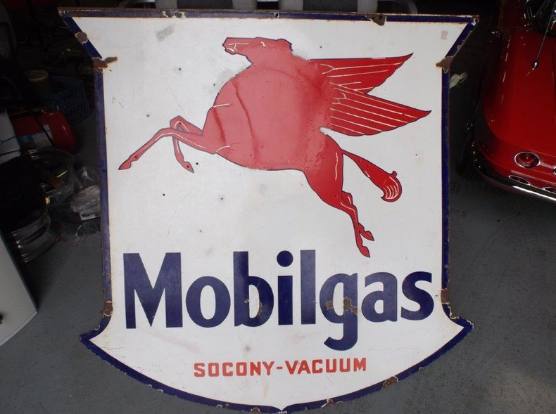 1938 2-Sided Mobilgas Sign