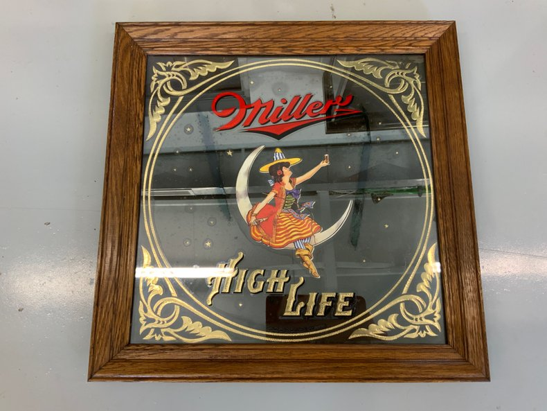 Miller High Life Bar Mirror