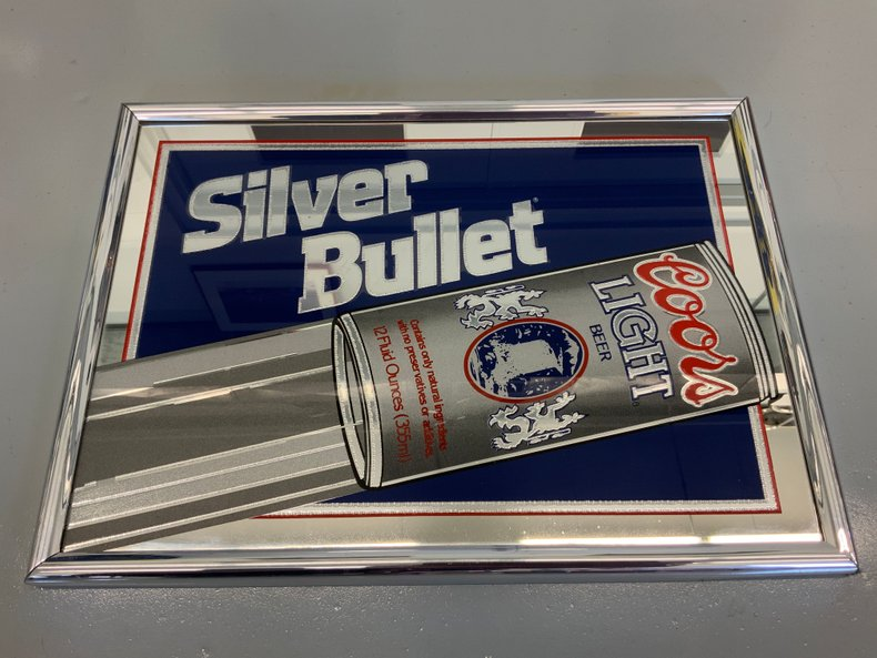 Silver Bullet Coors Light Bar Mirror