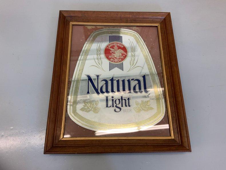 Natural Light Beer Mirror