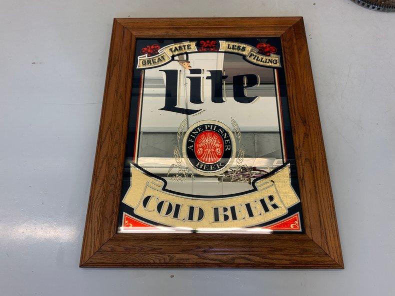 (Miller) Lite Cold Beer Bar Mirror