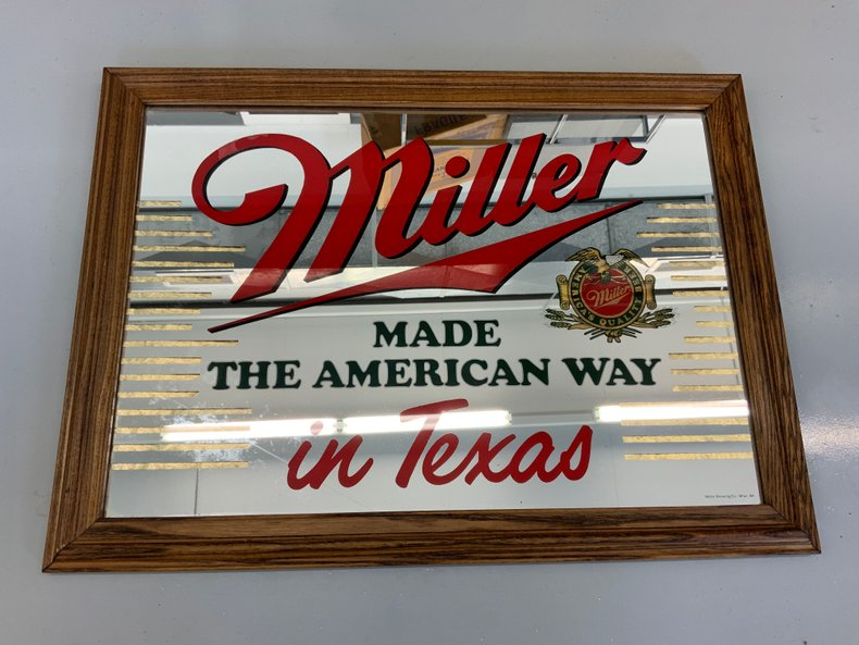 MILLER bar mirror Texas nice condition