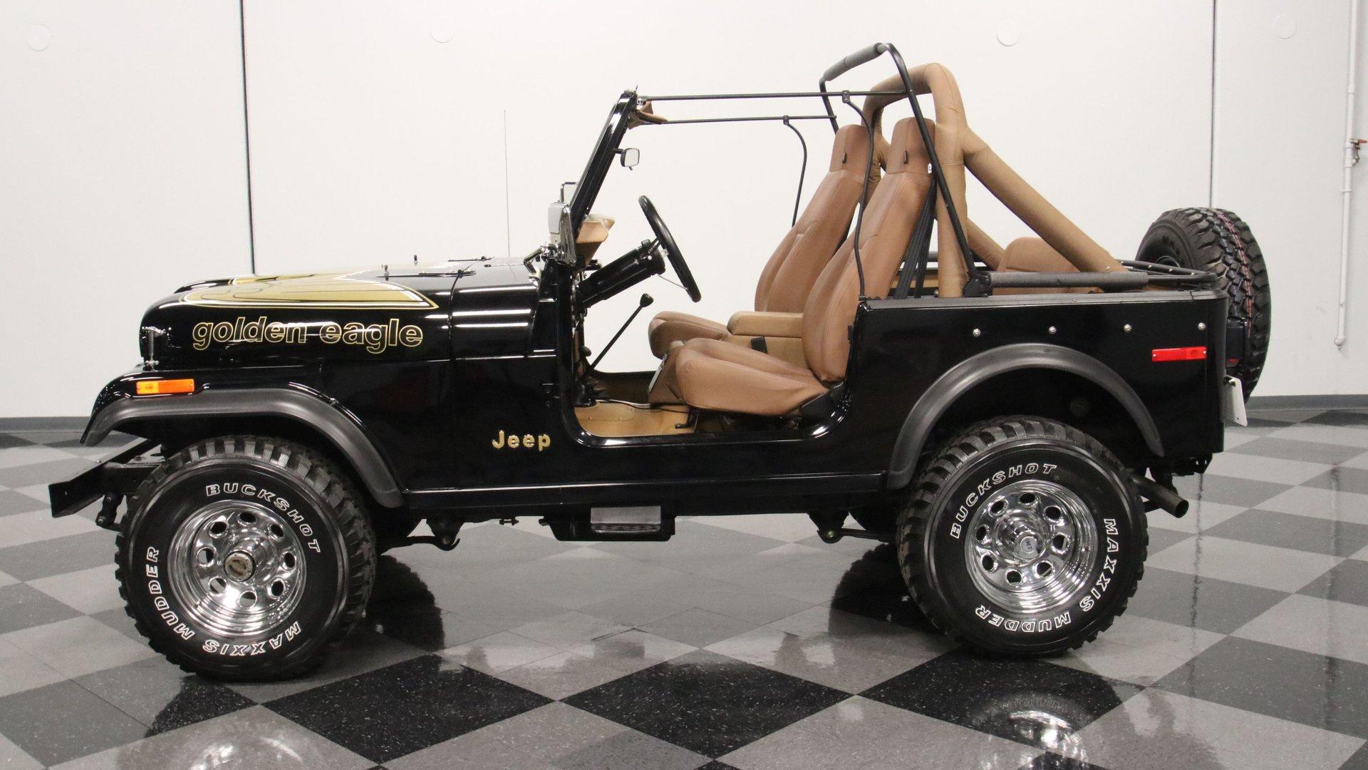 1977 jeep cj7 golden eagle tribute