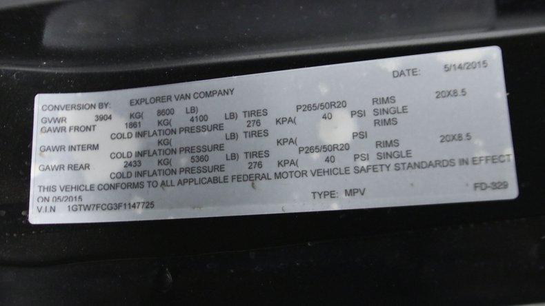 2015 GMC Savana G2500 71