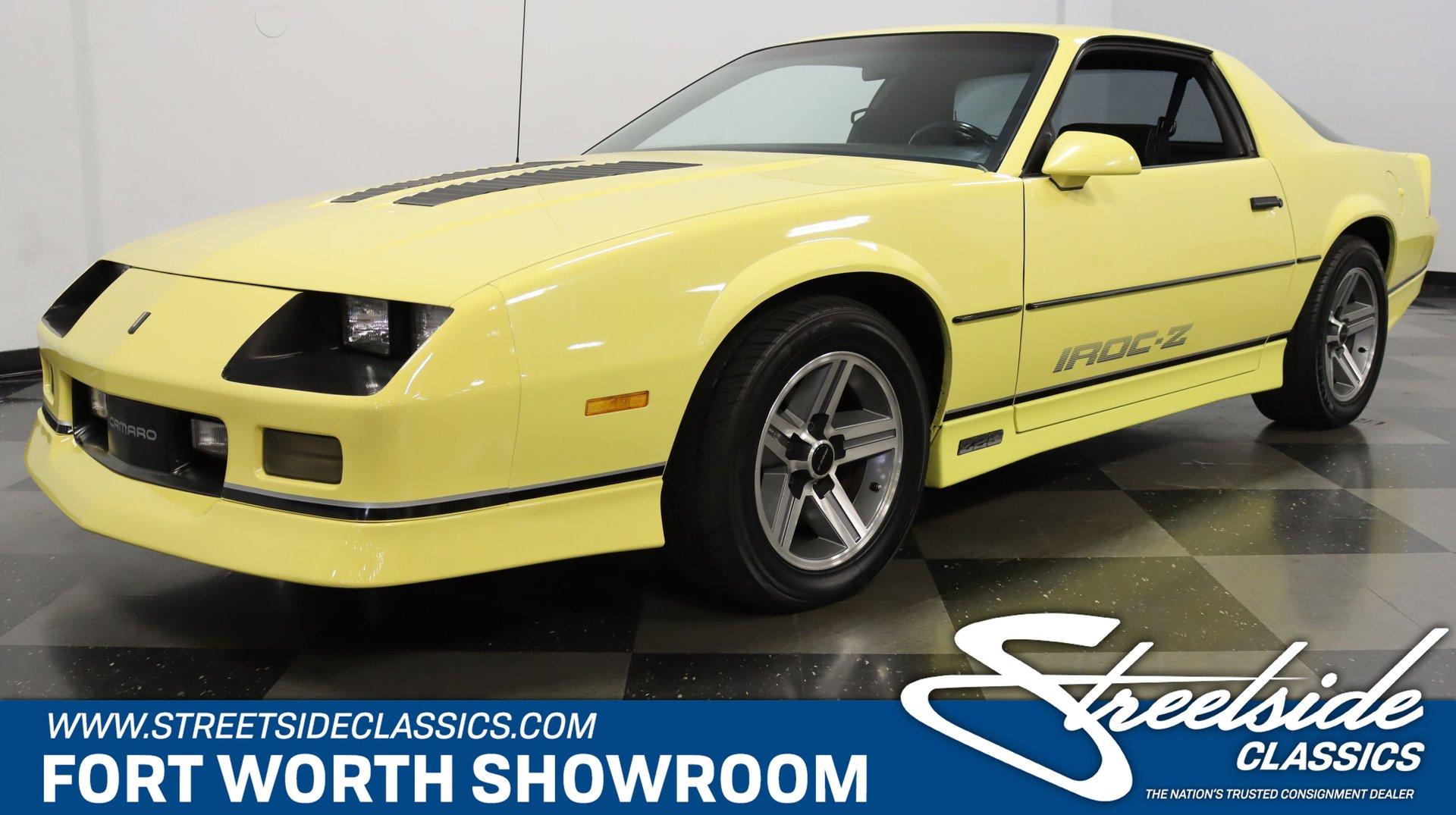 "Old Print Yellow 1985 Chevrolet Camaro /""IROC-Z/"" Auto Advertisment"