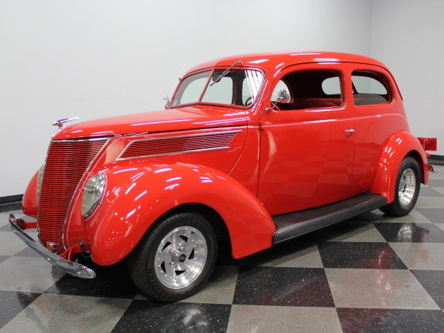 1937 ford slant back sedan