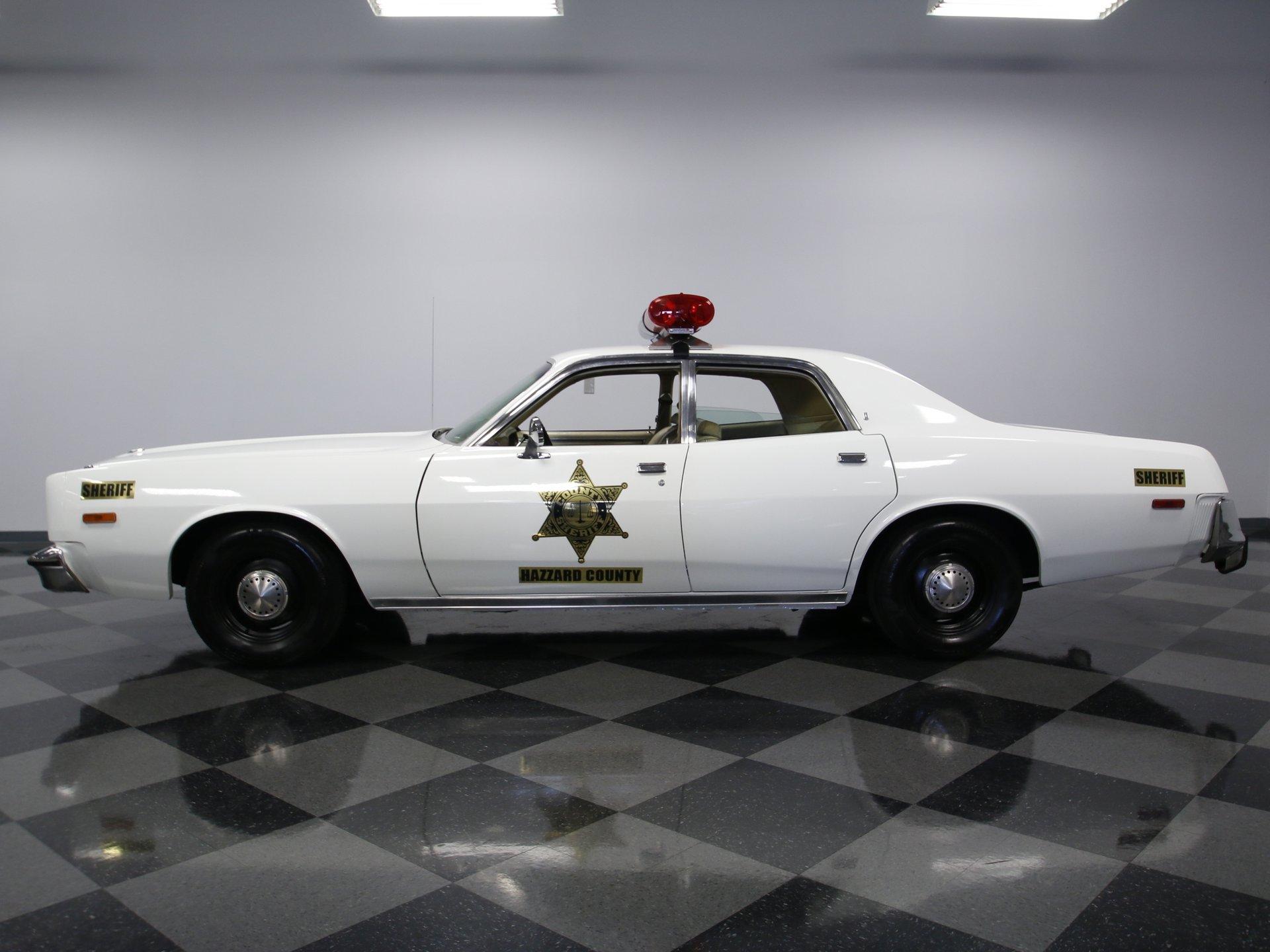 1977 plymouth fury hazzard co police cruiser