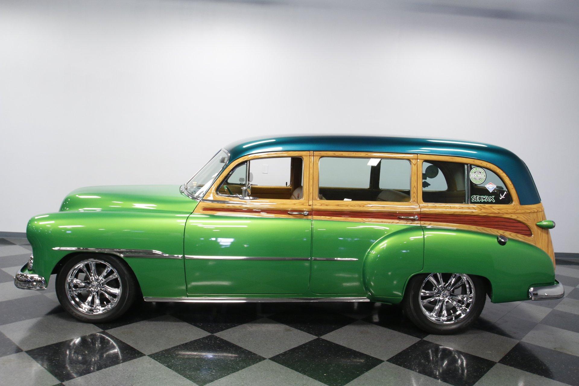 1951 chevrolet custom deluxe tin woody