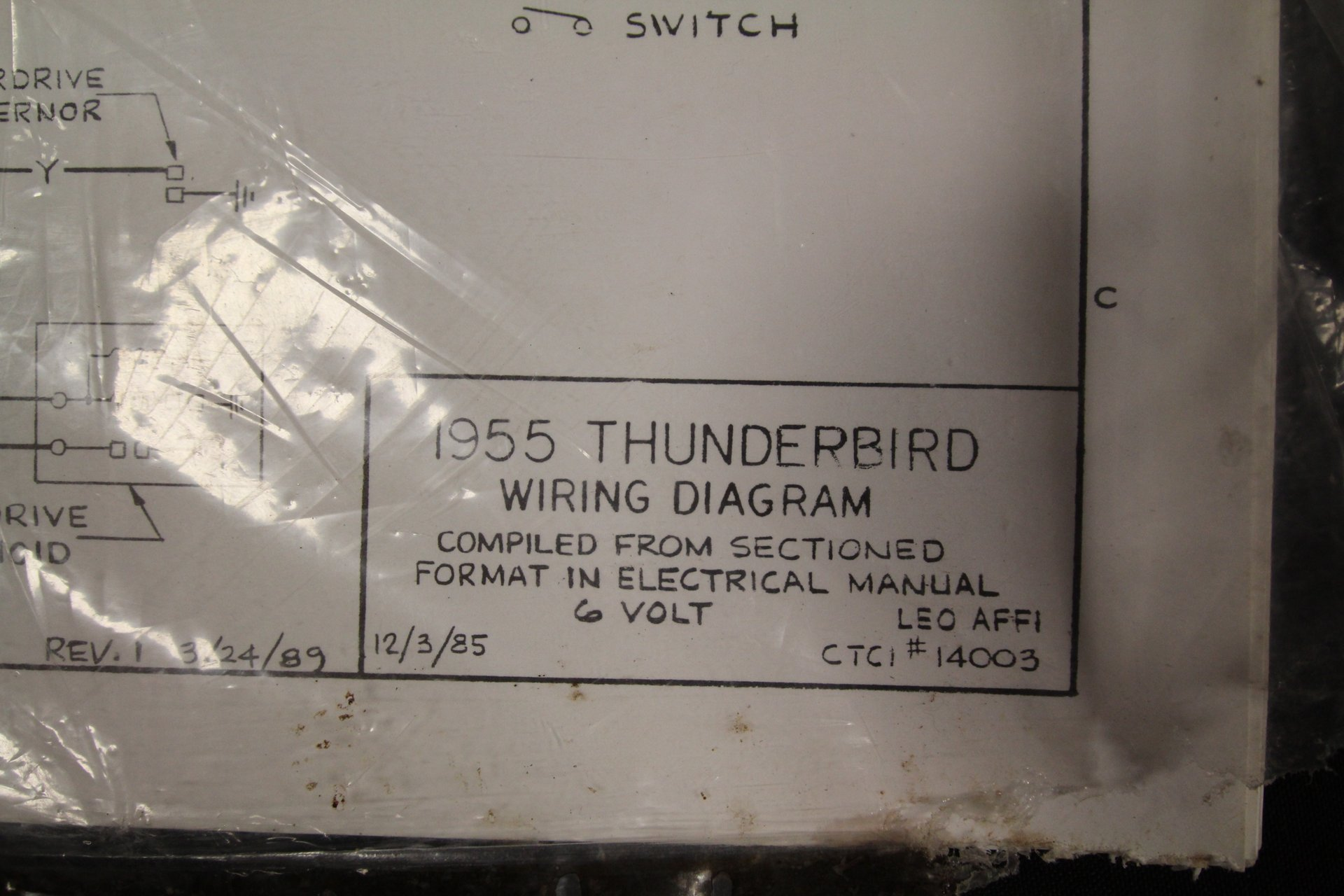 1955 Ford Thunderbird Electrical Assembly Manual Wiring Diagrams Tbird