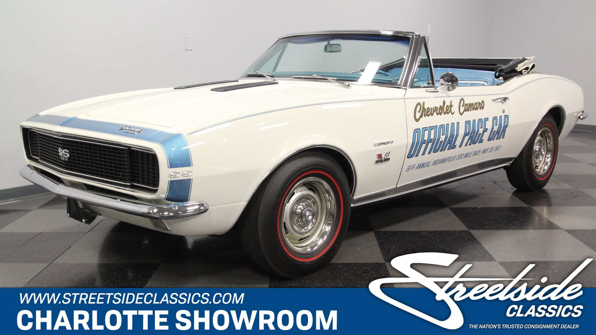 1967 chevrolet camaro indy 500 pace car convertible