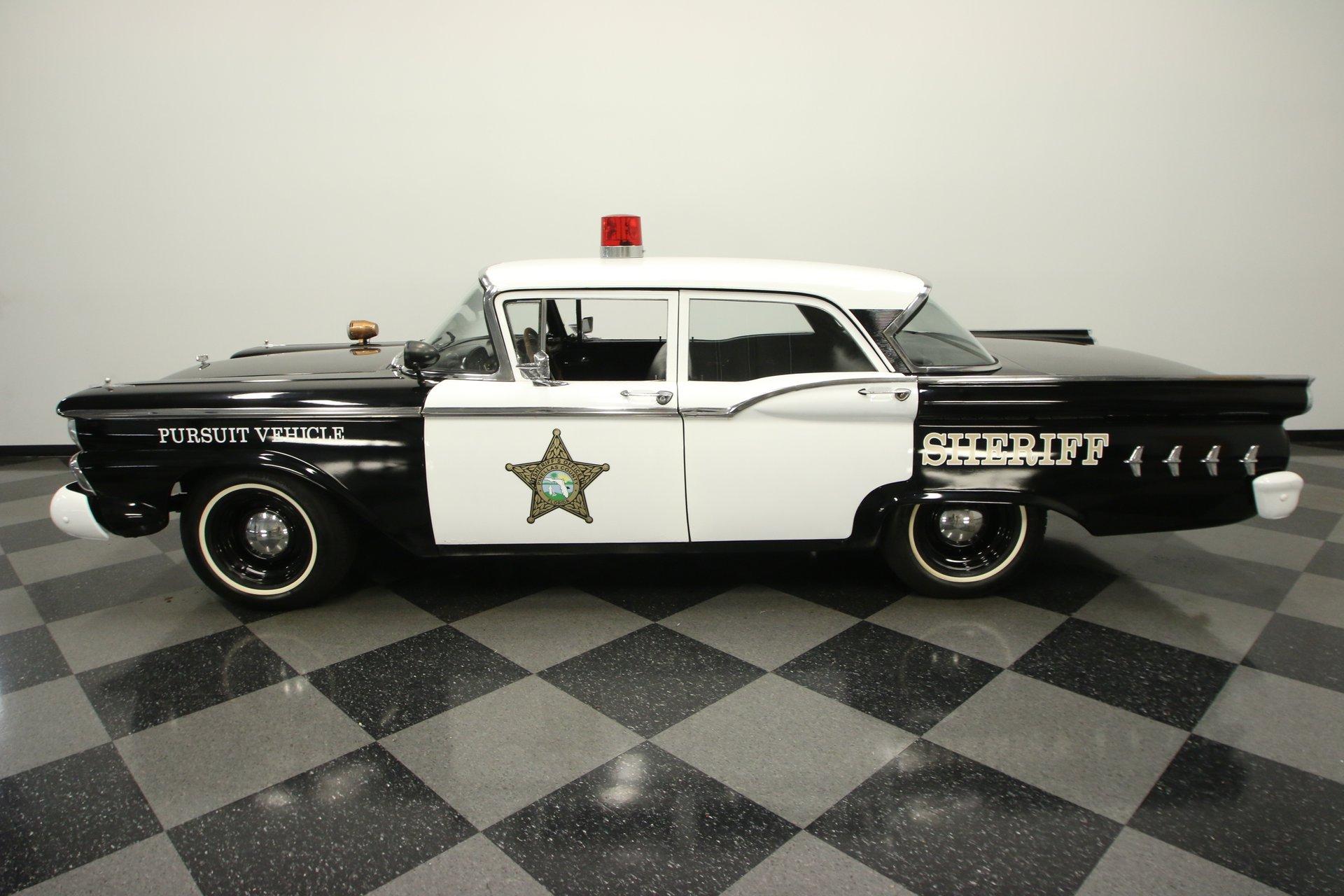 1959 ford custom 300 police car