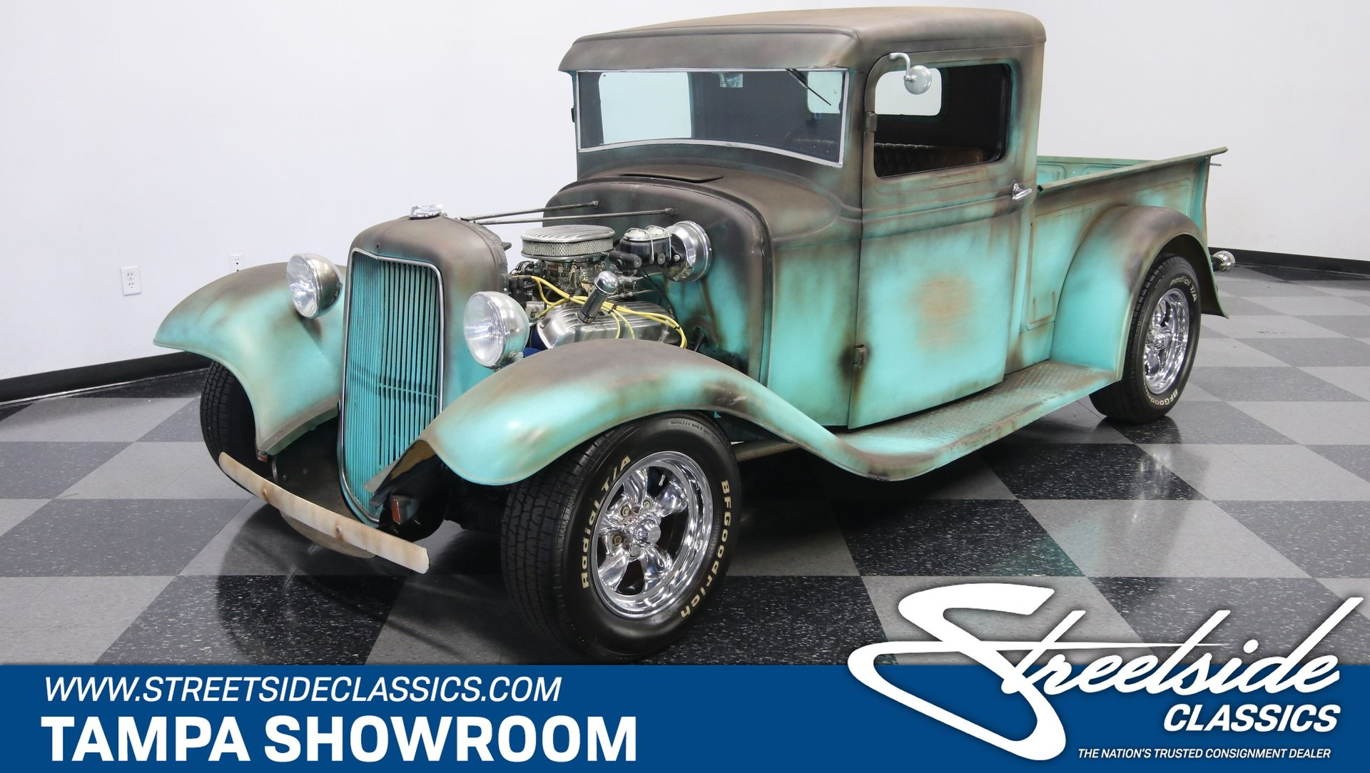 1934 ford pickup streetrod patina
