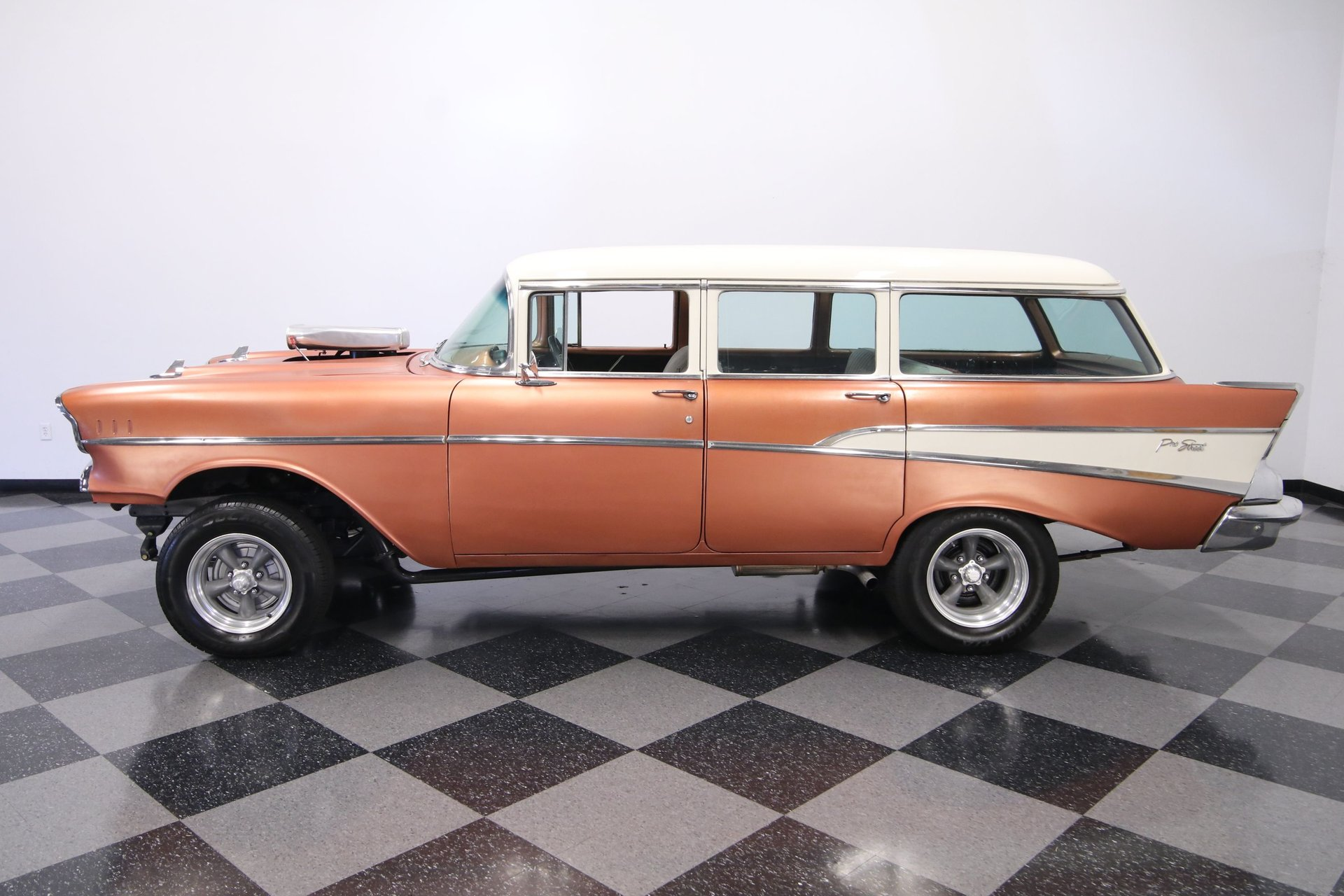 1957 chevrolet 210 4 door wagon gasser