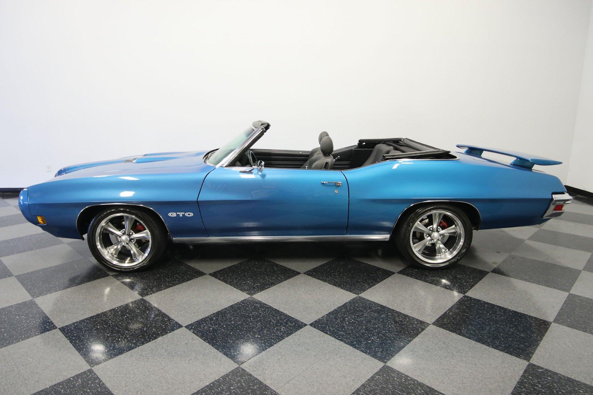 1970 pontiac gto tribute convertible restomod