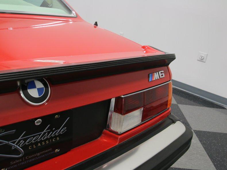 1987 BMW M6 68