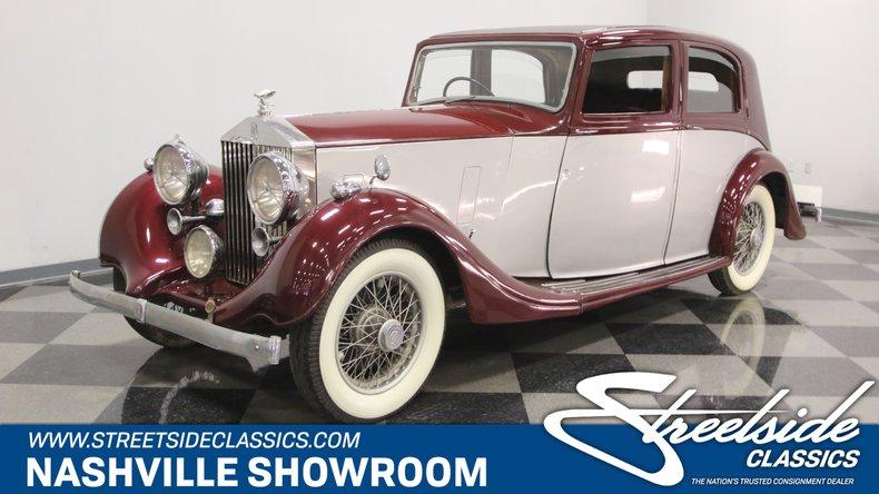 For Sale: 1938 Rolls-Royce 25/30