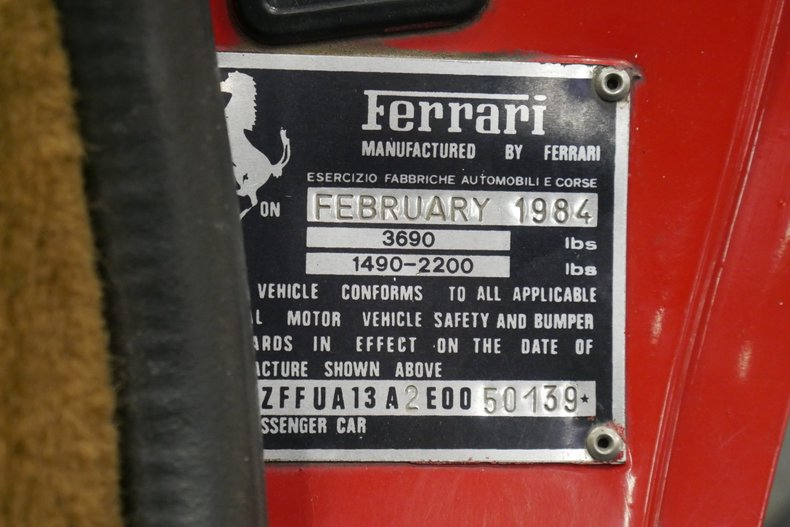 1984 Ferrari 308 GTS 49