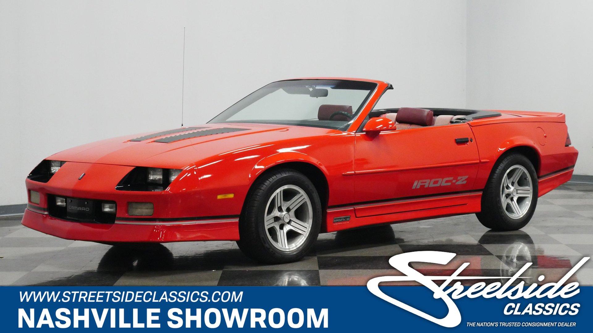 1989 chevrolet camaro iroc z 28 convertible