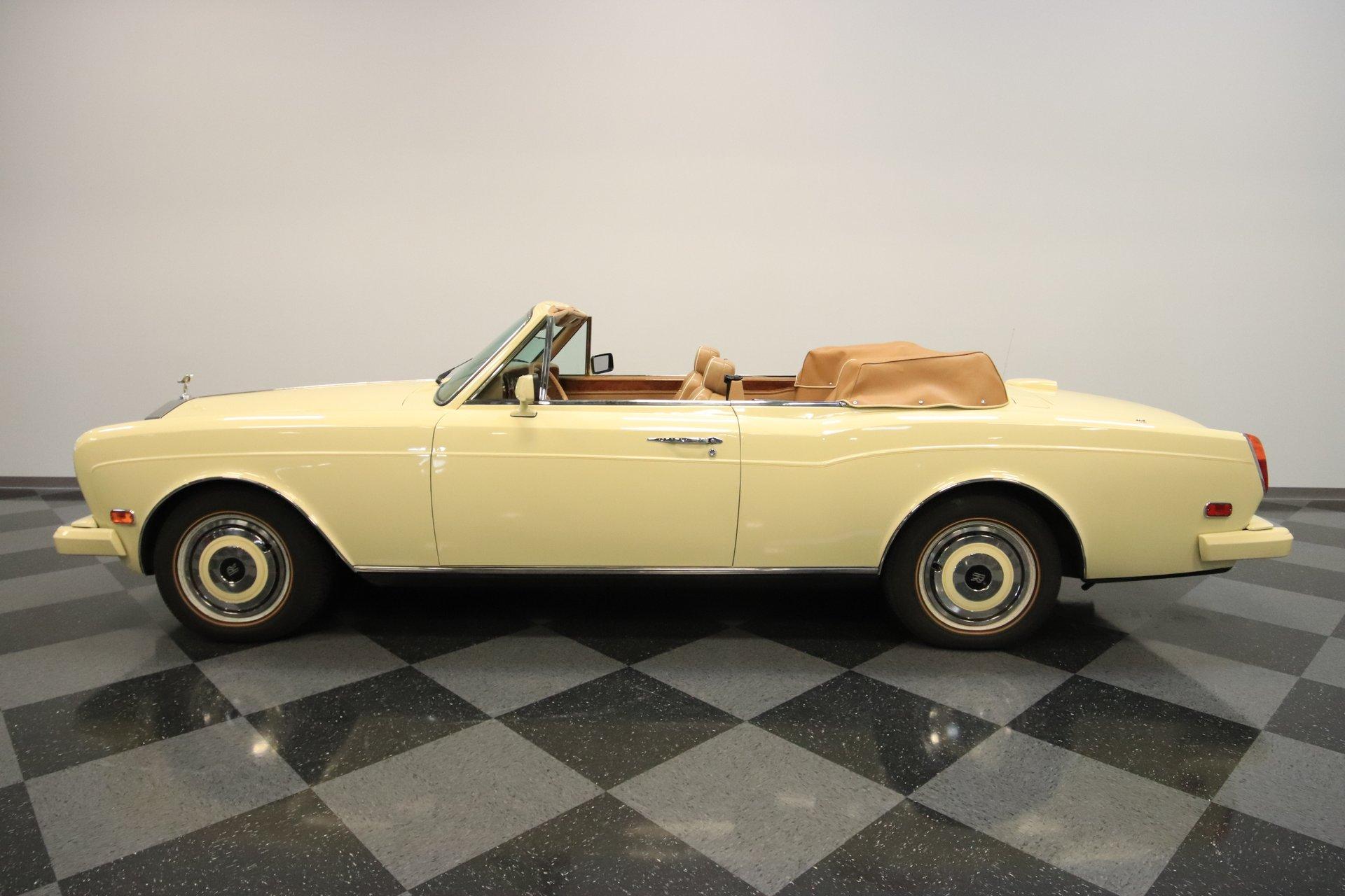 1988 rolls royce corniche convertible