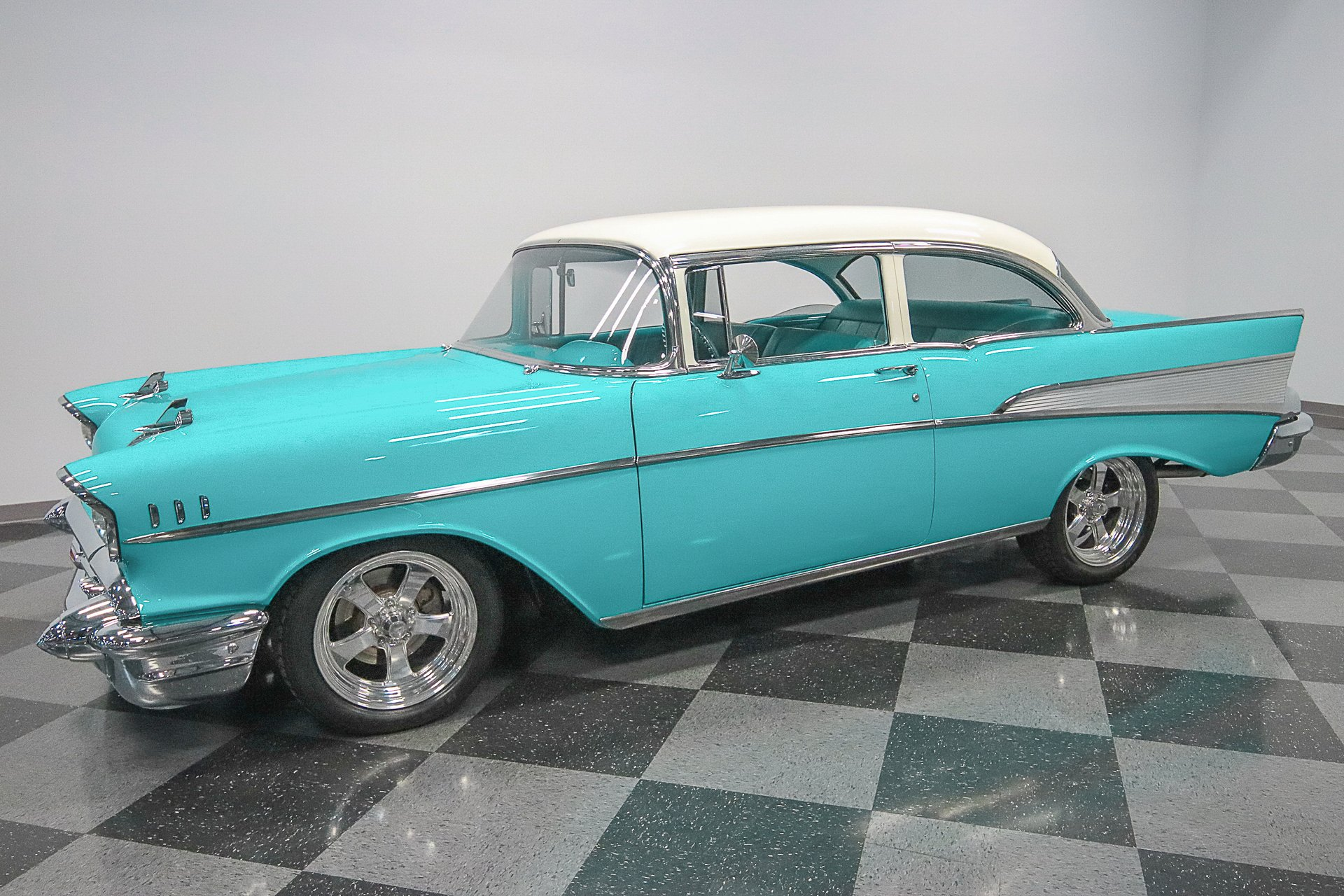 1957 Chevrolet Bel Air Streetside Classics The Nations Trusted Chevy 2 Door Sedan Spincar View Play Video 360