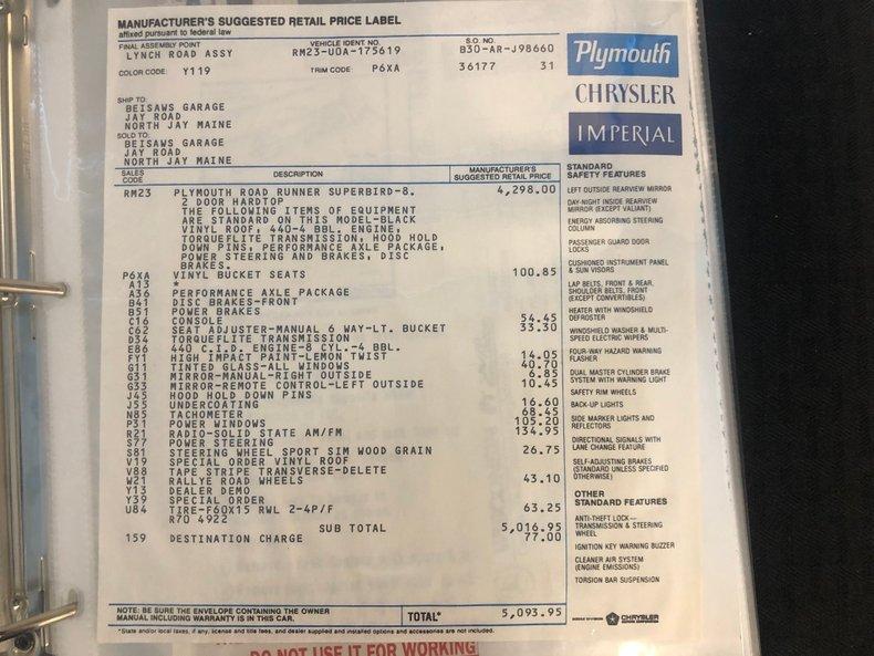 1970 Plymouth Superbird 71