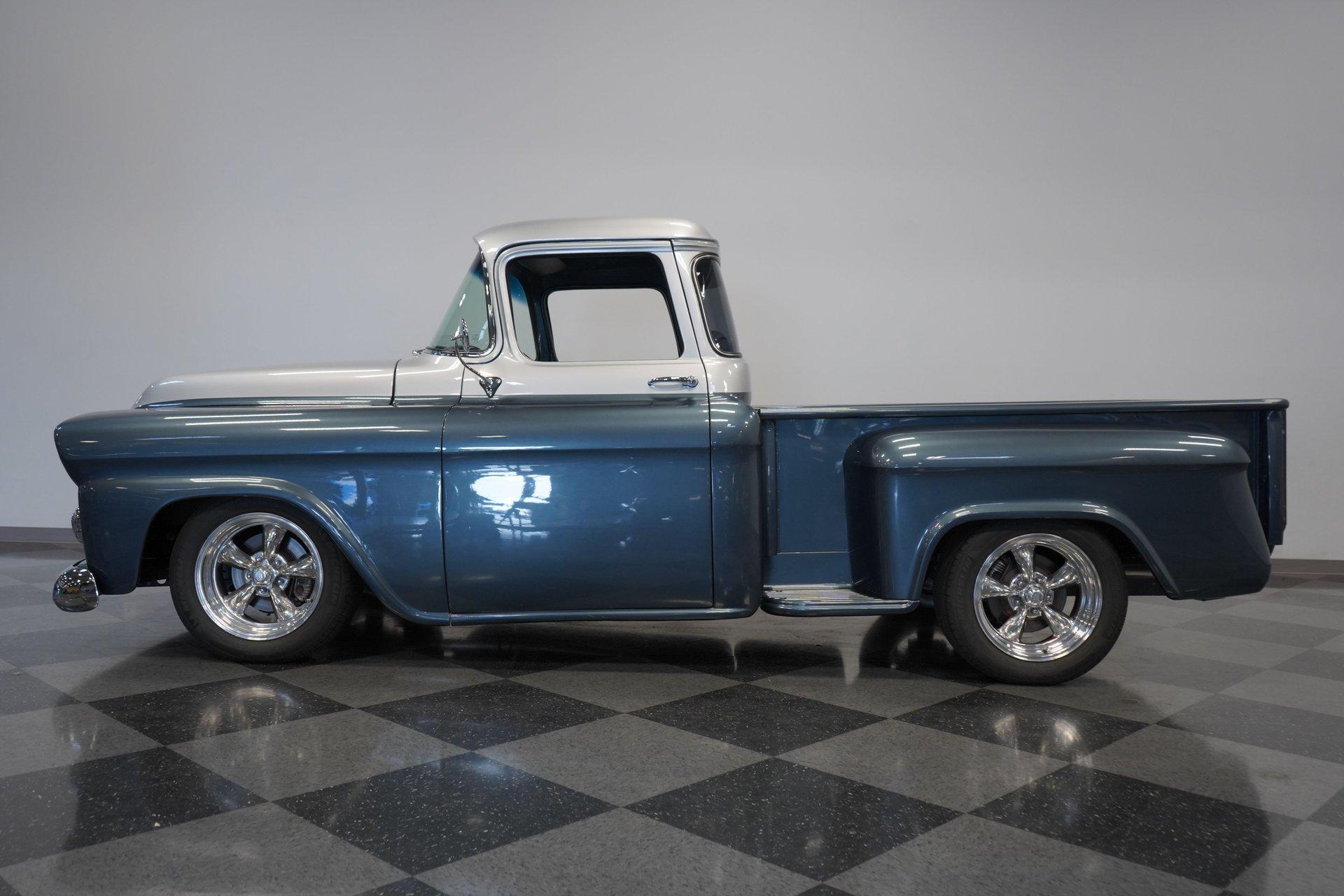 1958 chevrolet 3100 apache big window restomod