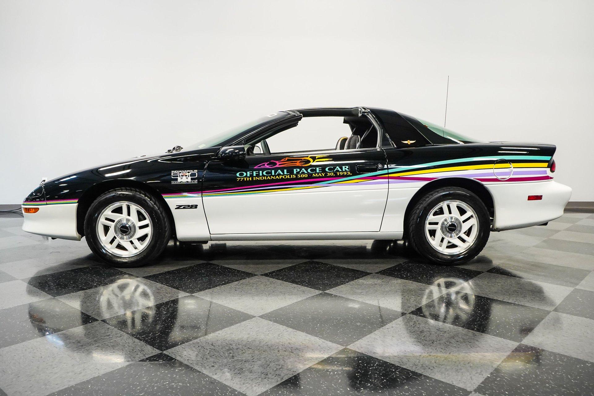 1993 chevrolet camaro z 28 indianapolis 500 pace car
