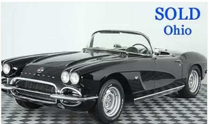1962 corvette sold