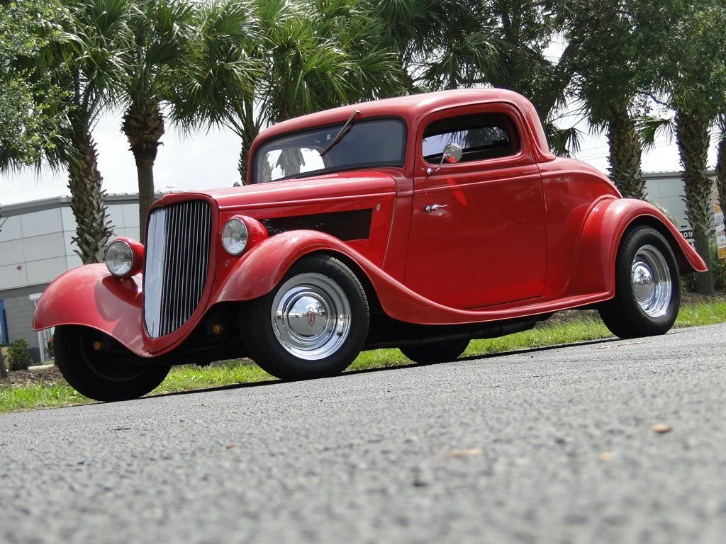 1934 ford 3 window coupe streetrod
